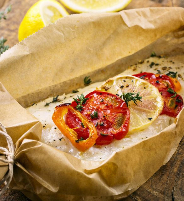 fish oven baked with vegetables