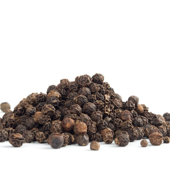 Peppercorn isolated on white