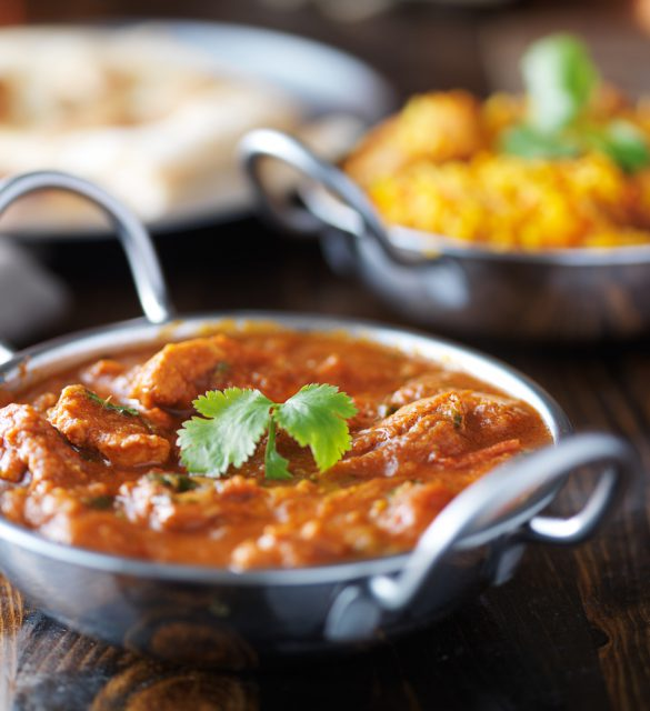 indian curry and Biryani in balti dishes